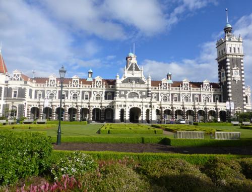 Dunedin, NZ. Historischer Bahnhof