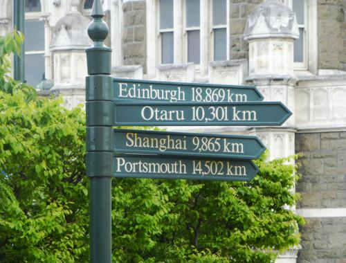 Entfernungen von Dunedin nach...
