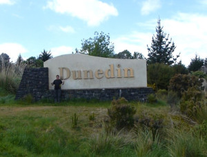 Dunedin, ich bin da, am Ortseingang