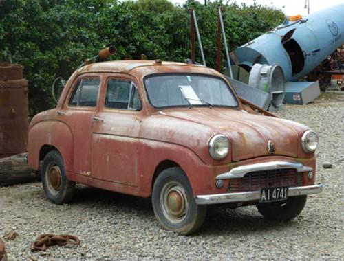 Steampunk-HQ Oamaru, altes Auto