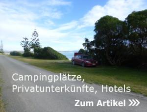Campingplätze, Privatunterkünfte, Hotels