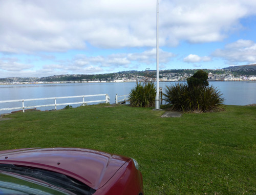 Otago Harbour Blick nach Dunedin