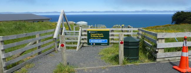 Tunnel Beach südlich von Dunedin