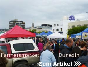 in Dunedin auf dem Farmersmarket