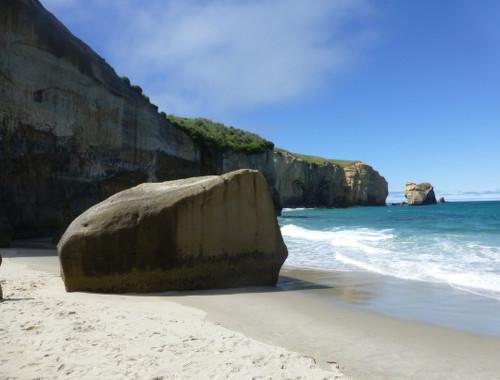 Tunnel Beach, unten am Strand 4