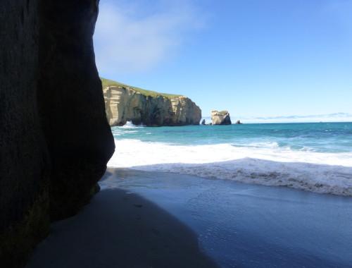 Tunnel Beach, unten am Strand 5