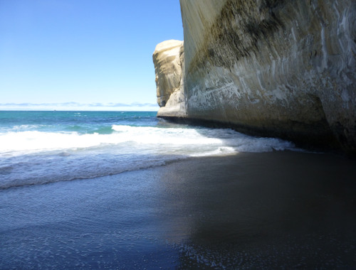 Tunnel Beach, unten am Strand 6