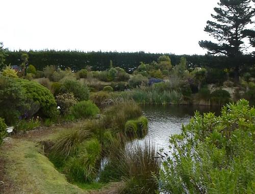 Lignite-Pit Scenic Stop, Garten mit See