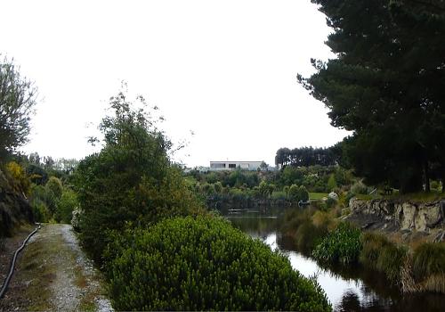 Lignite-Pit Scenic Stop, garten in alter Bergbaugrube