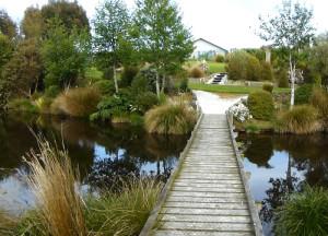 Lignite-Pit Scenic Stop Brücke über den See