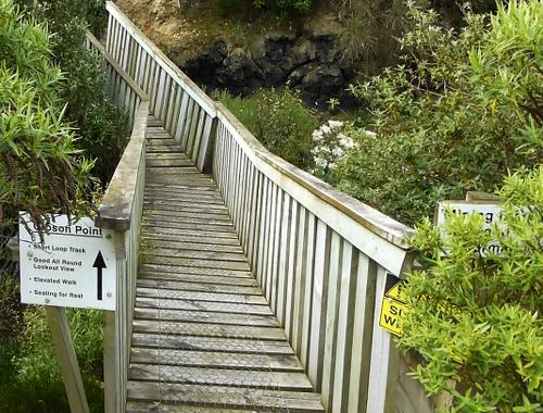 Lignite-Pit Scenic Stop, Holzbrücke