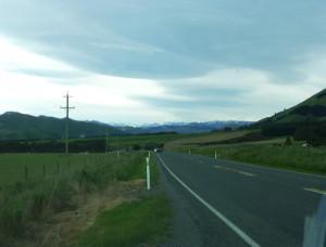Landstraße in den Catlins