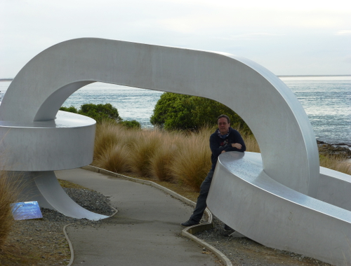 Kette - am Stirling Point in Bluff