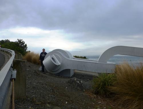 neben der Kette, am Stirling Point in Bluff