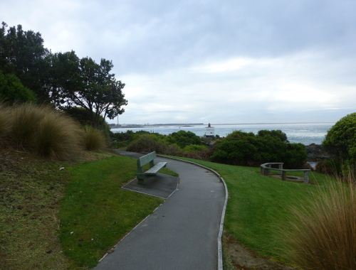 Rastplatz am Stirling Point in Bluff
