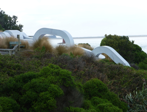Kette am Stirling Point in Bluff