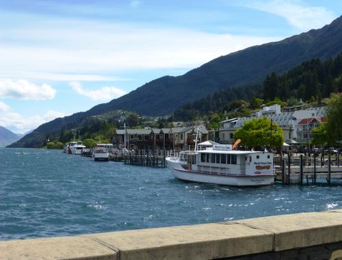 Hafen von Queenstown am Lake Wakatipu 2