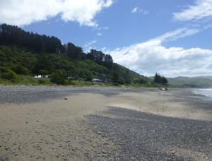 Der Urlaubsort Gore Bay, NZ, 1