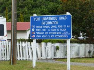 vom Campingplatz bei Rarangi nach Port Underwood