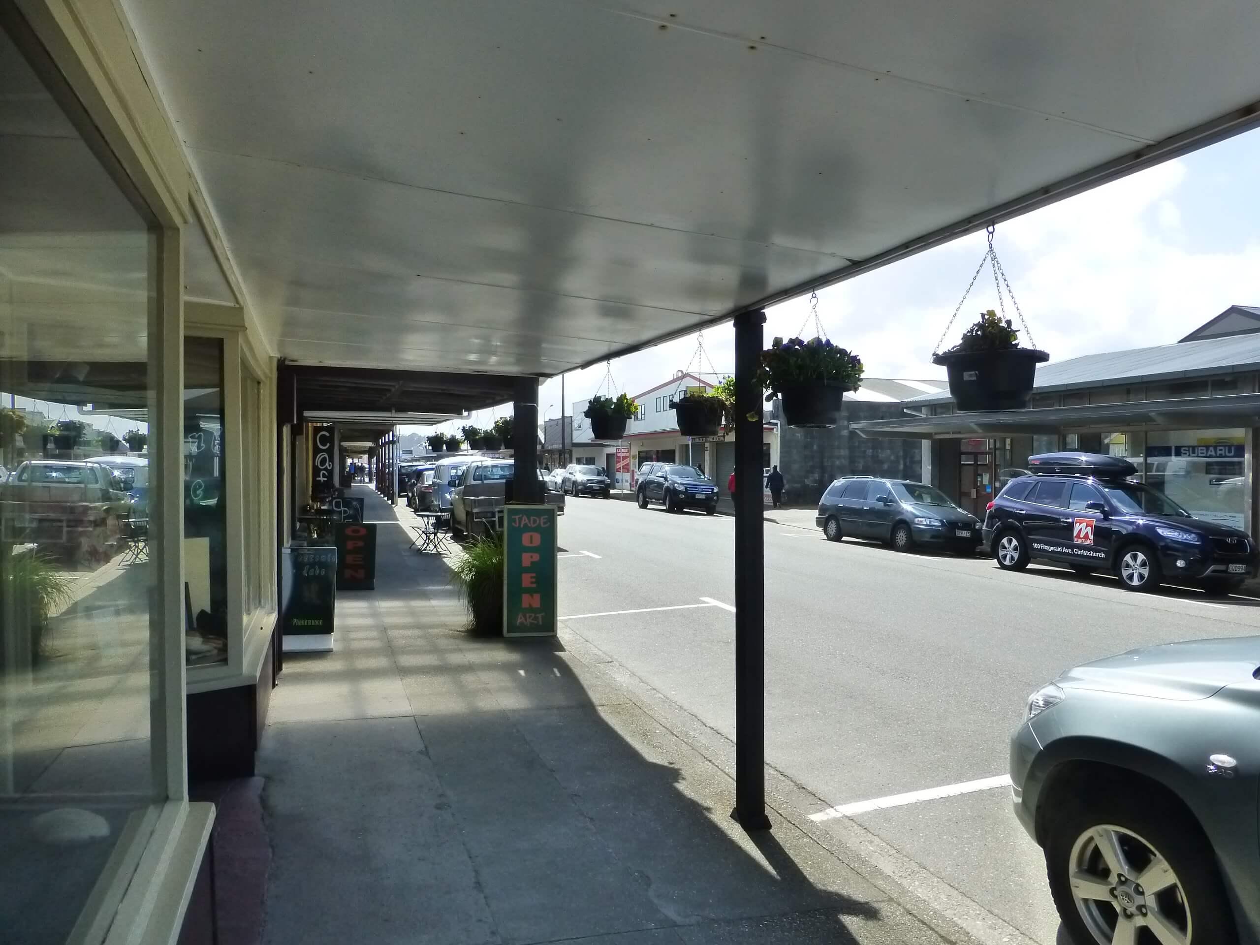 Im Zentrum von Hokitika an der Westküste Neuseeland 4