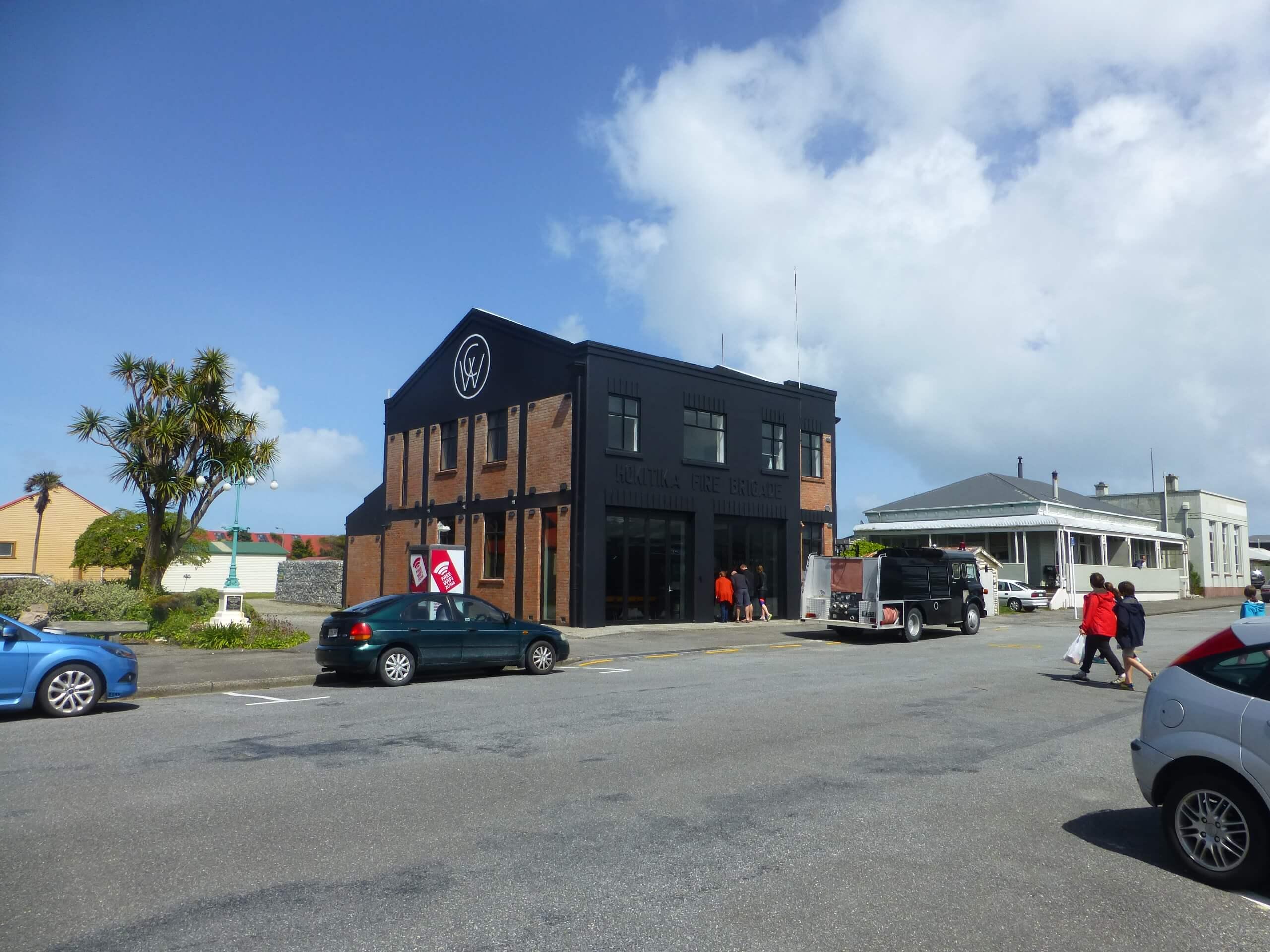 Im Zentrum von Hokitika an der Westküste Neuseeland 9