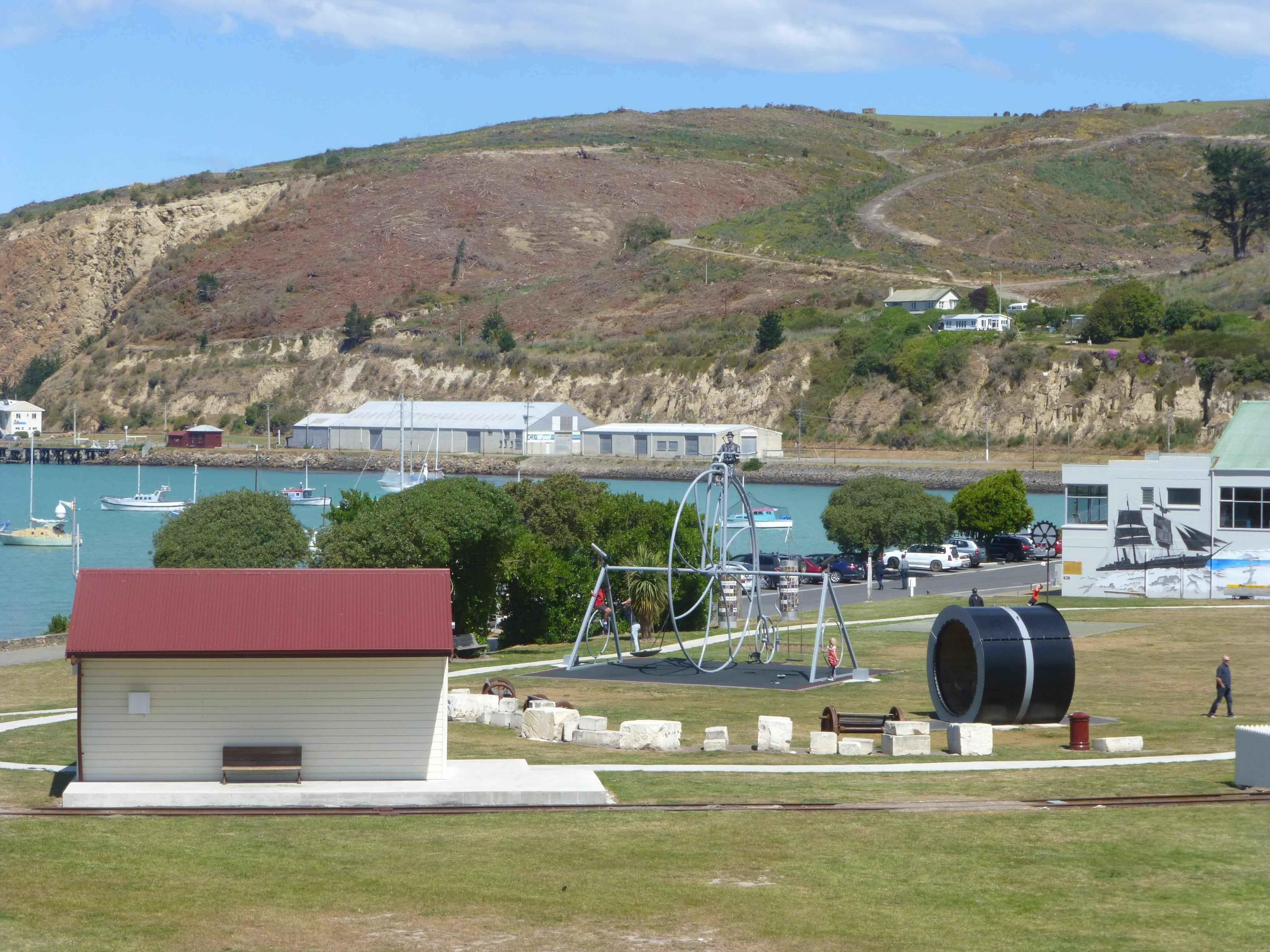 Im Hafen von Oamaru, Neuseeland 16