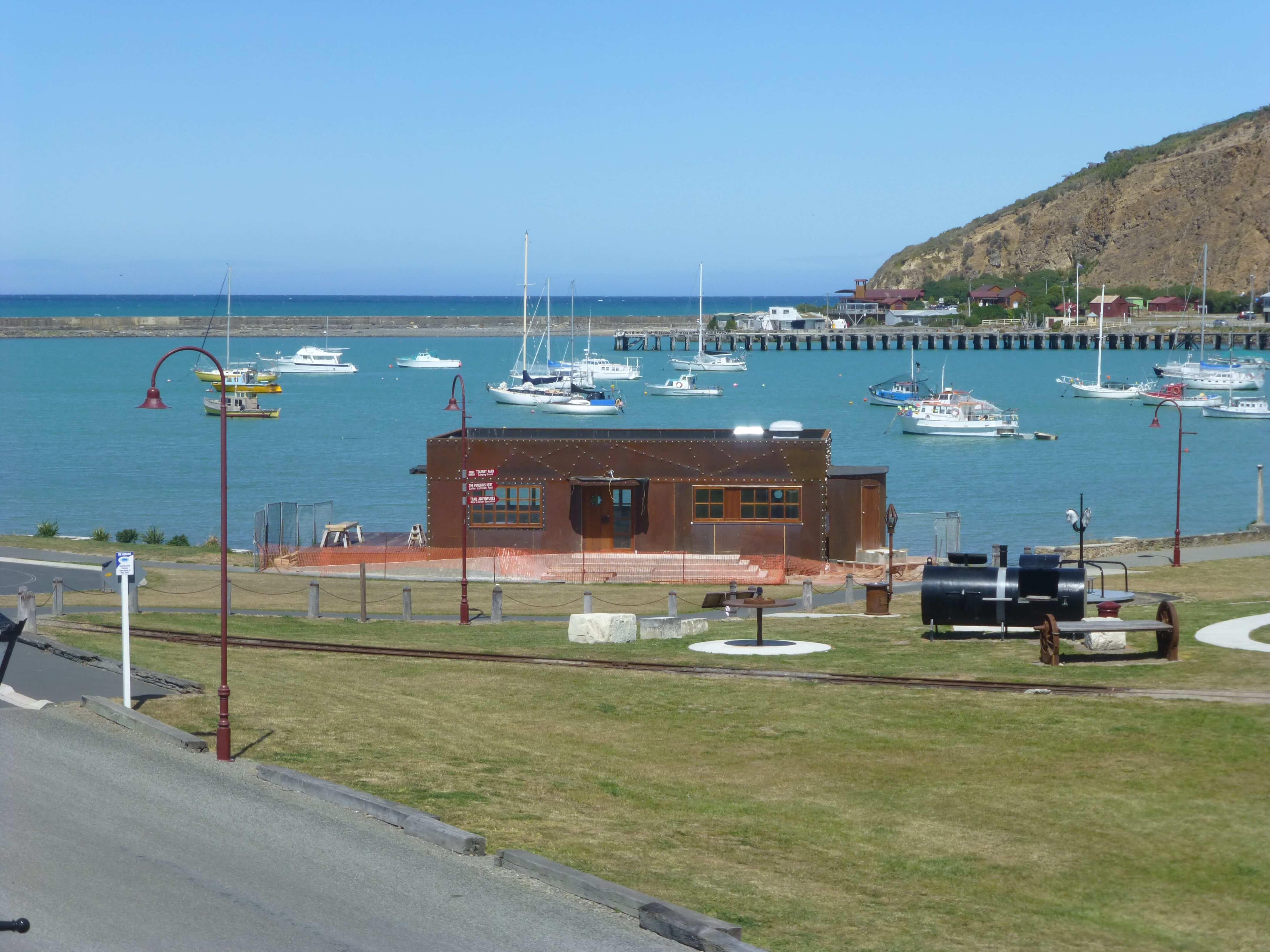 Im Hafen von Oamaru, Neuseeland 2