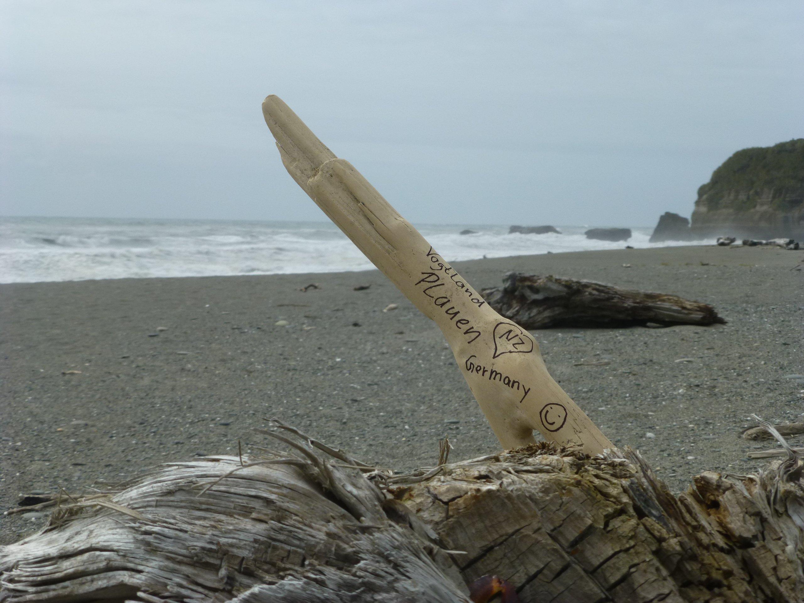 Black Sand Beach, Marker, Westküste Neuseeland 2