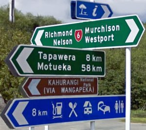 Neuseeland, Straßenverkehr, Motueka, Tapawera, Murchinson, Westport