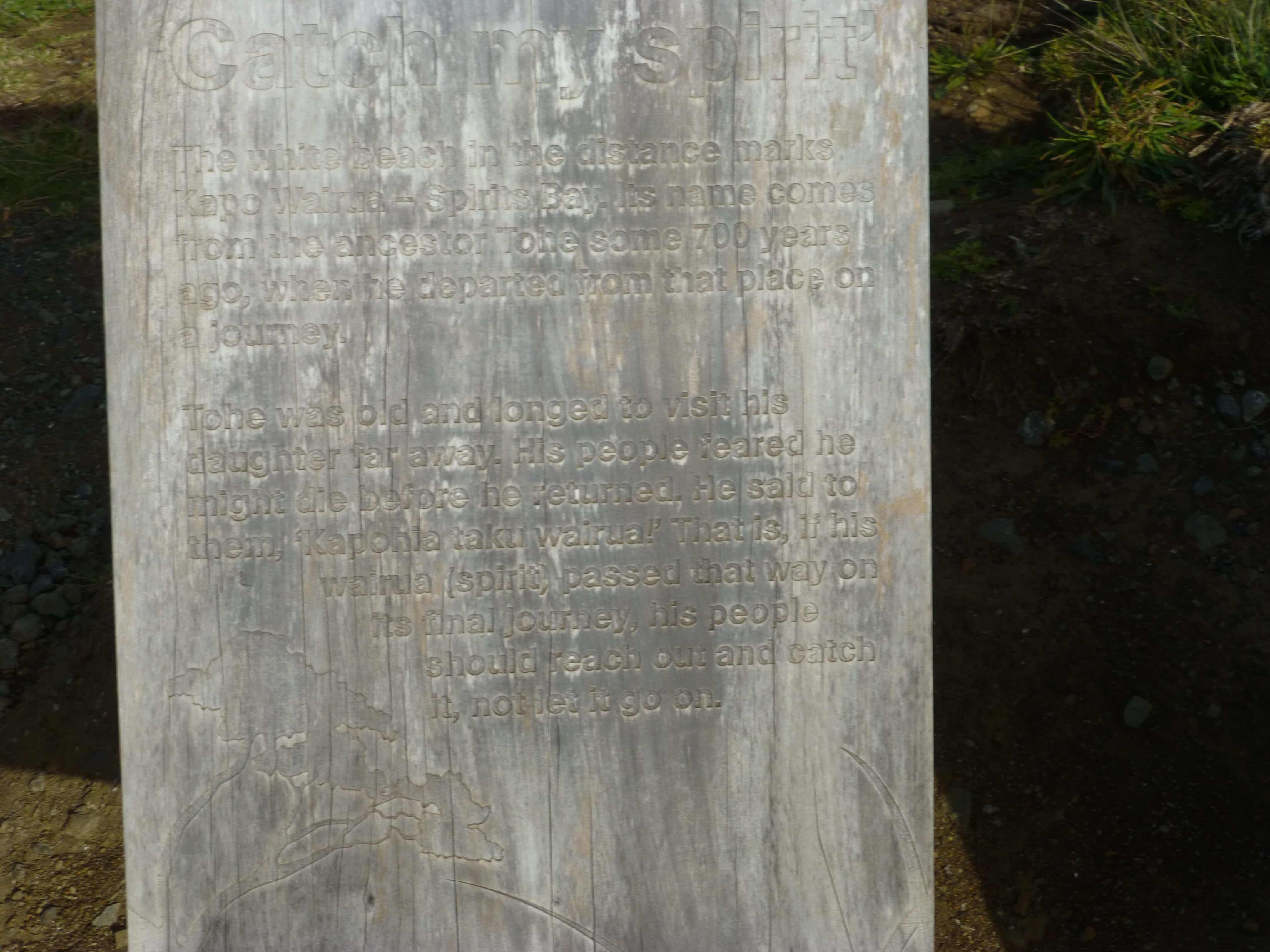 Infotafeln am Cape Reinga 10