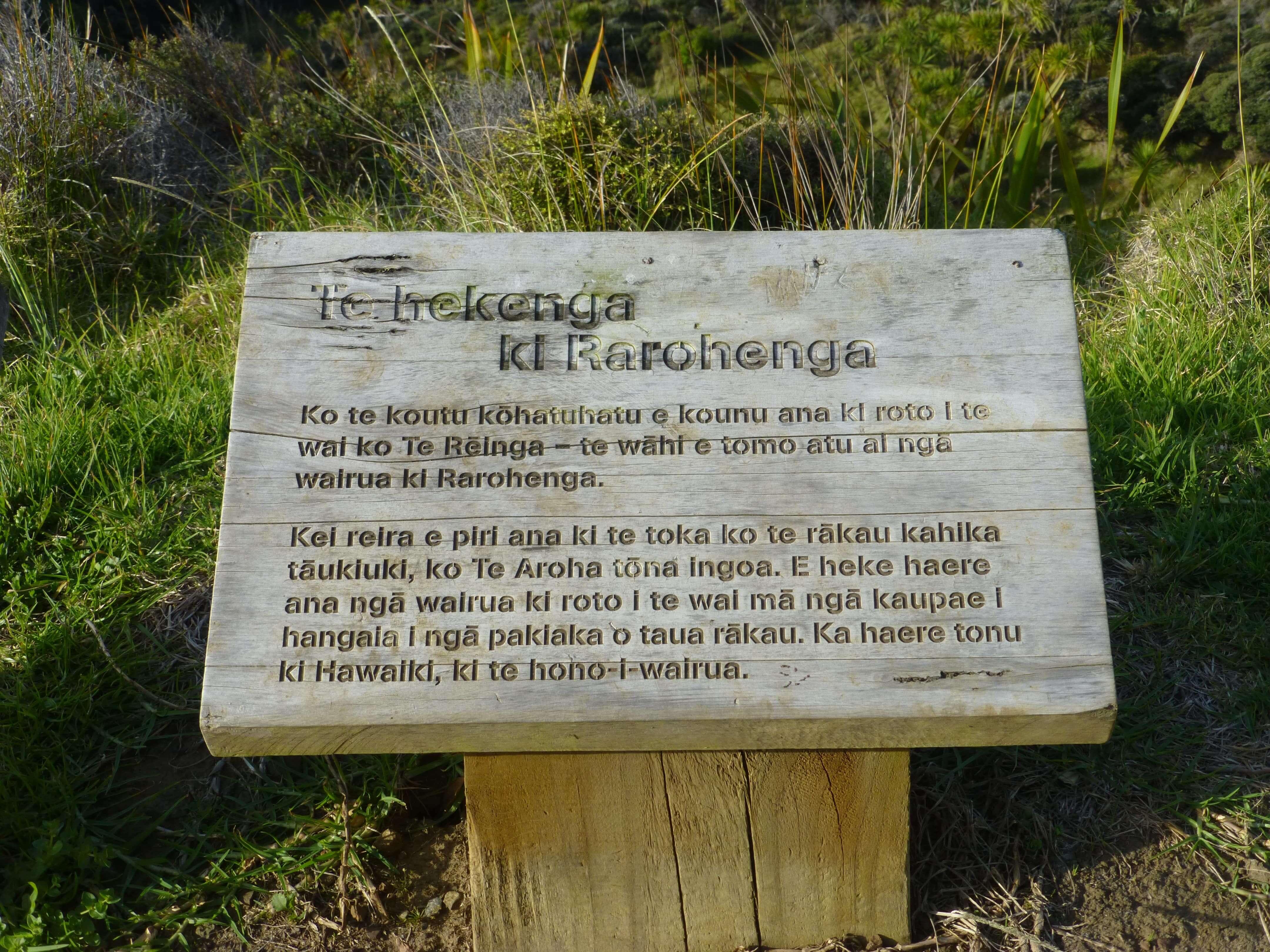Infotafeln am Cape Reinga 17