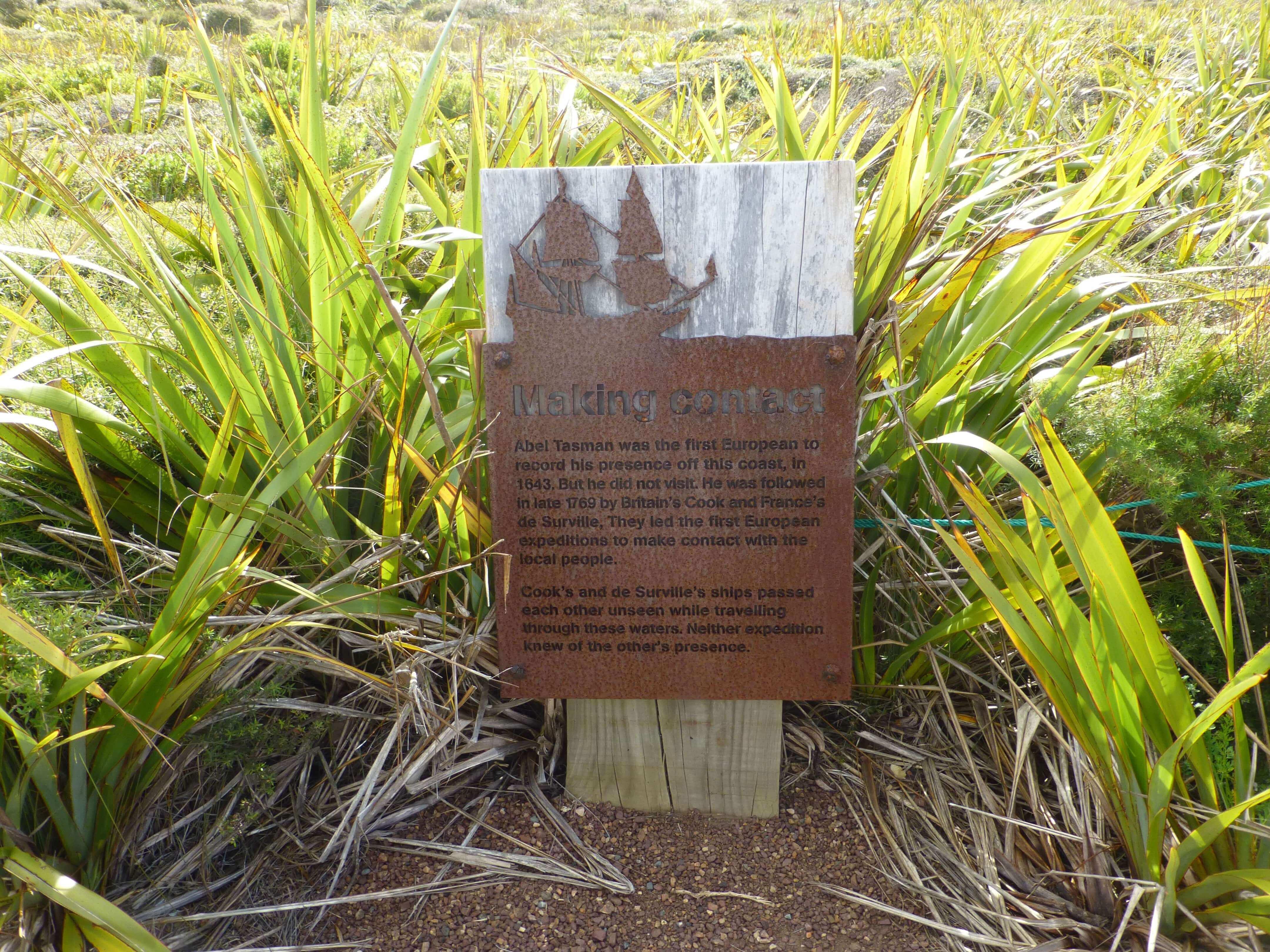 Infotafeln am Cape Reinga 3