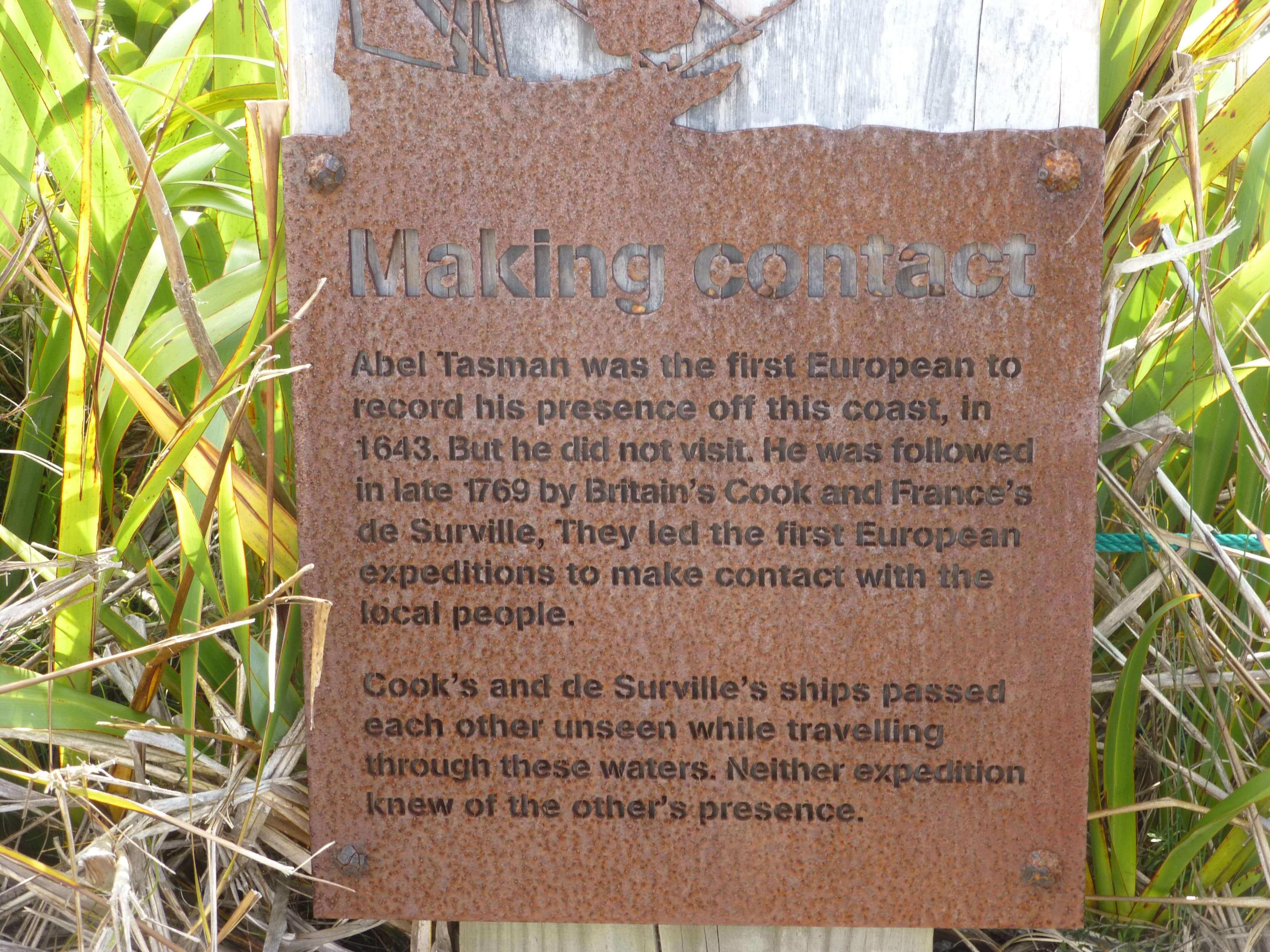 Infotafeln am Cape Reinga 4