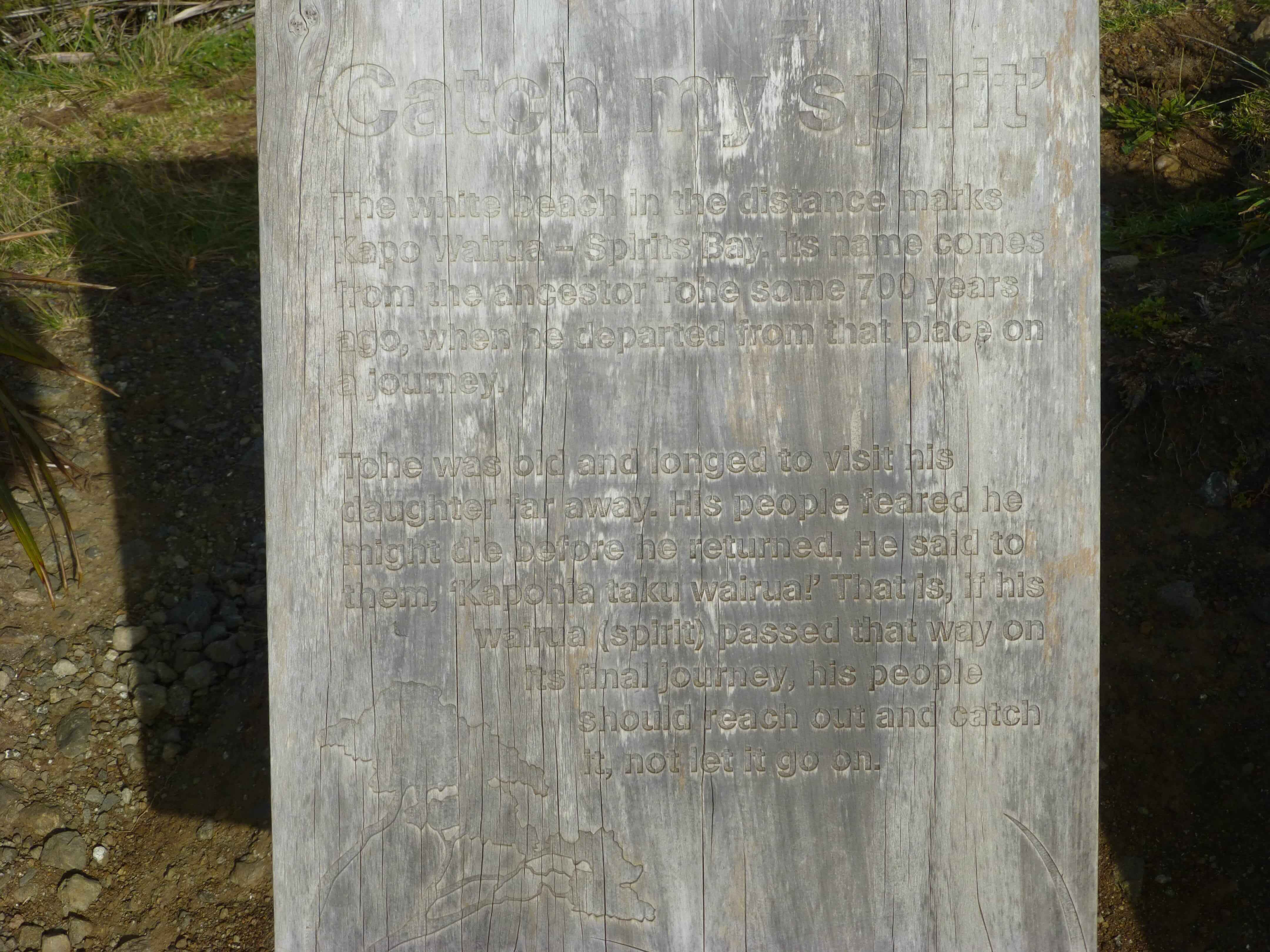 Infotafeln am Cape Reinga 9