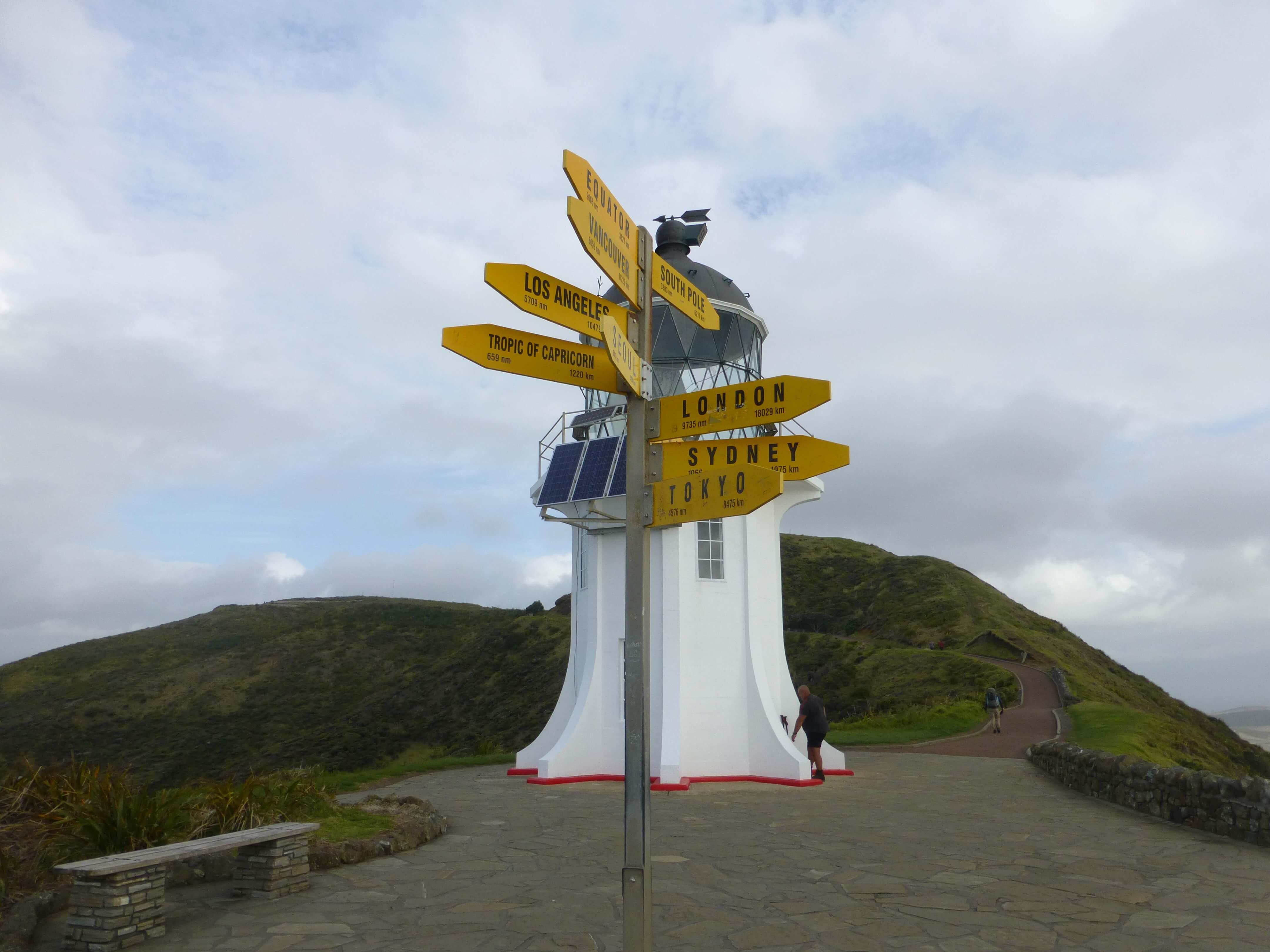 Wegweiser am Cape Reinga 1