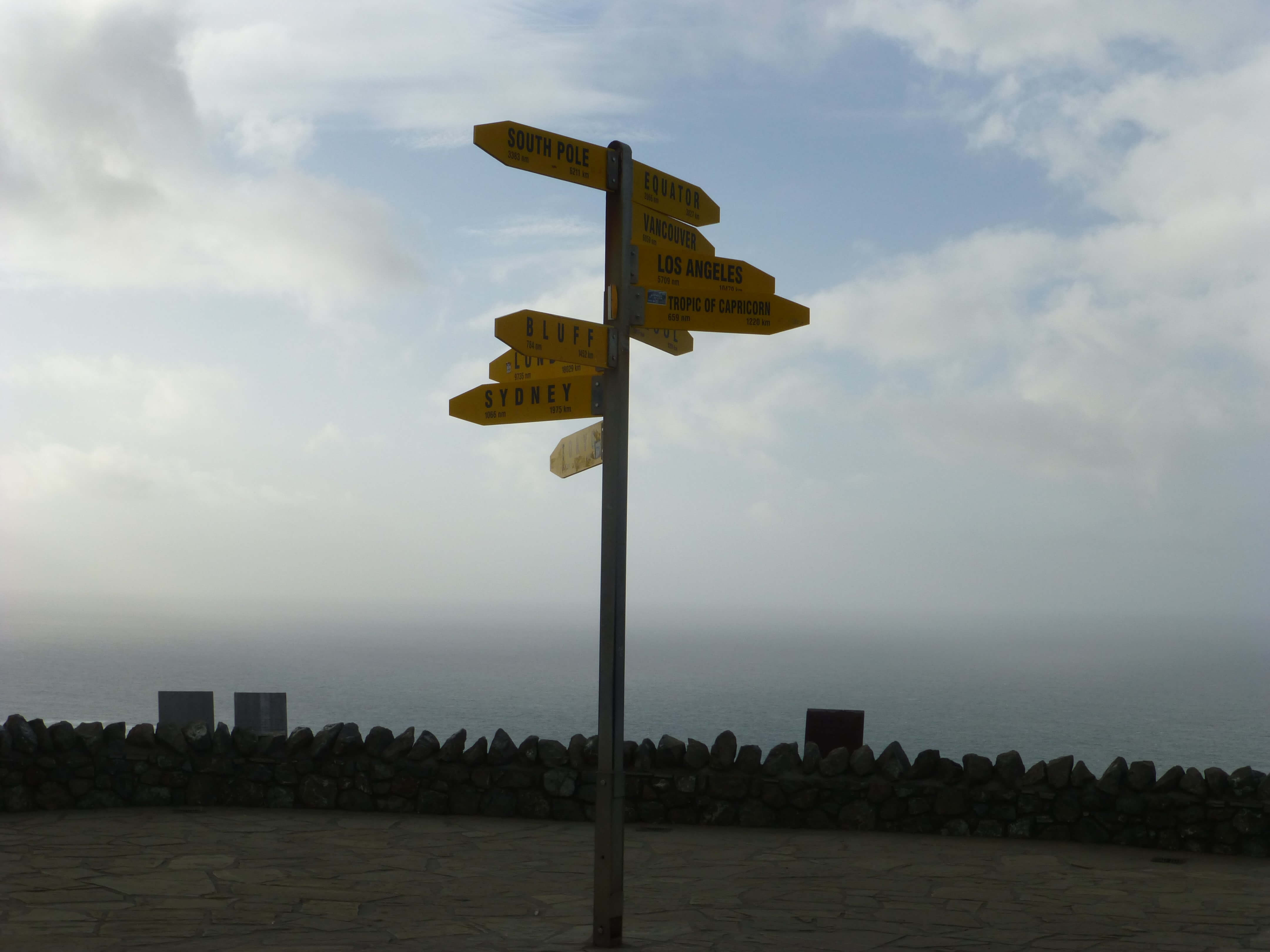 Wegweiser am Cape Reinga 3