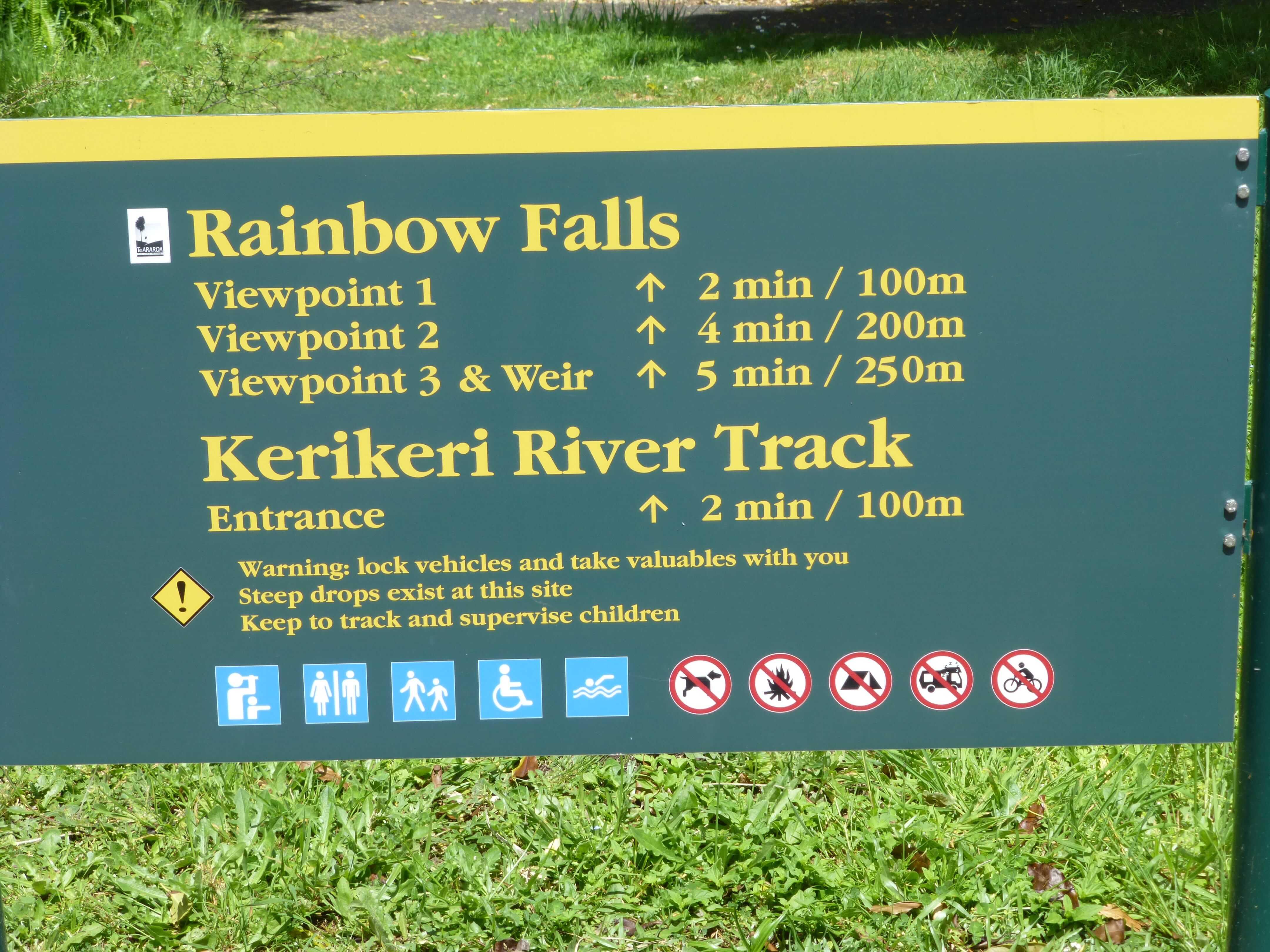 Weit weg Reisen, Rainbow Falls, bei Kerikeri 2