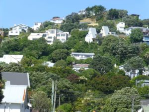 Wellington, in Miramar auf dem Weg zum Weta Shop, Weit-weg.reisen, 1