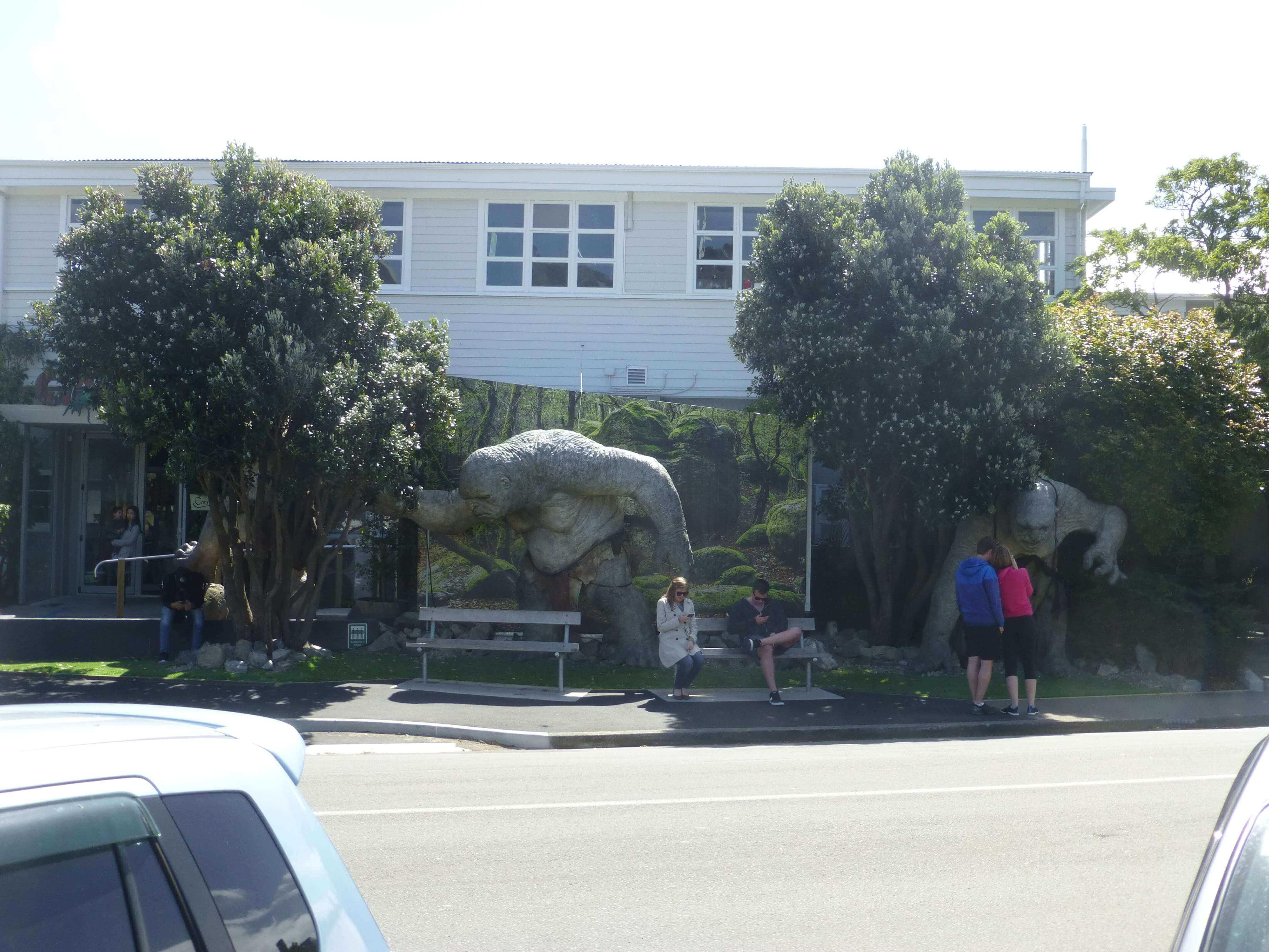 Wellington, vor dem Weta Shop, Weit-weg.reisen 2