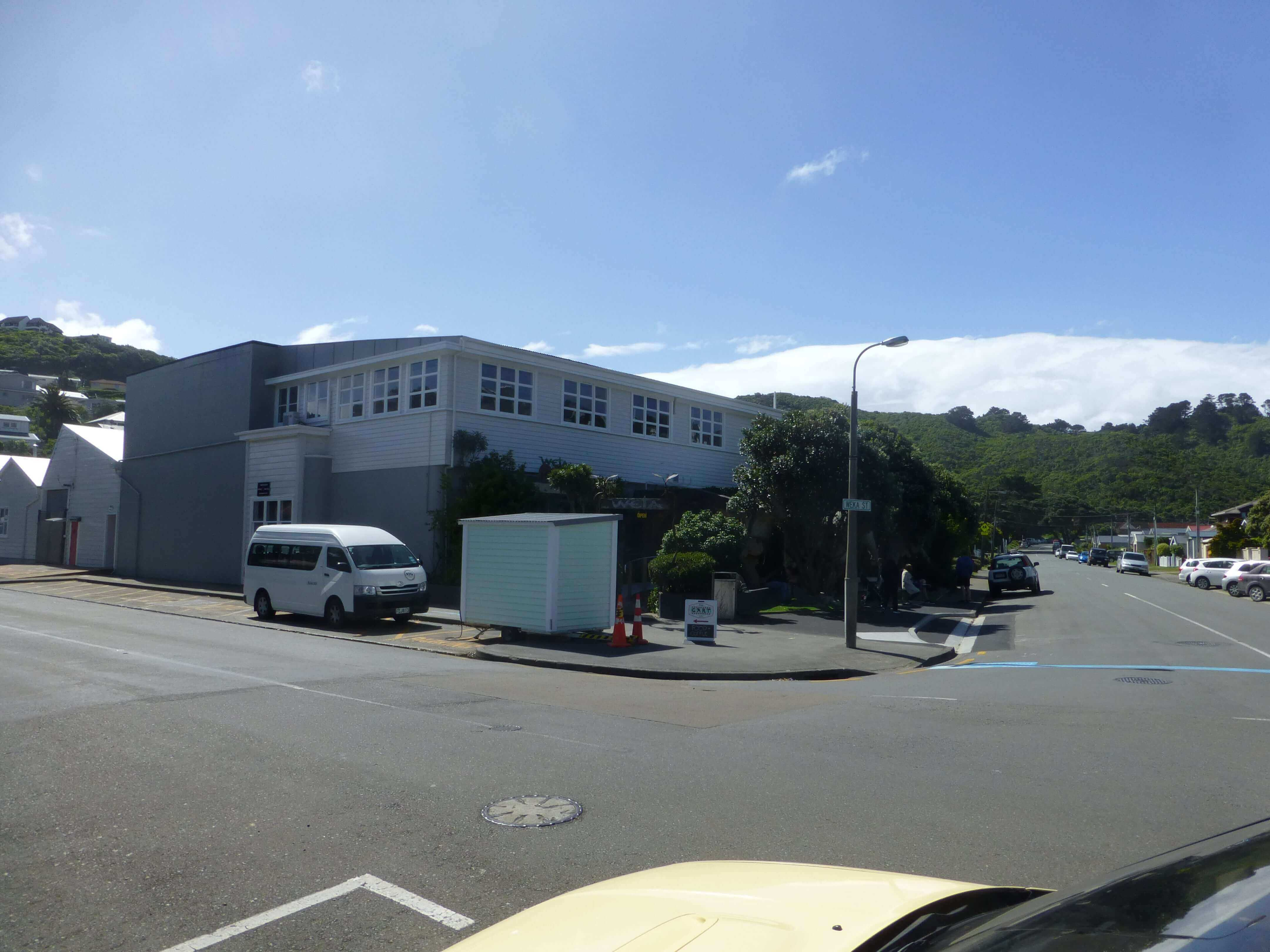 Wellington, vor dem Weta Shop, Weit-weg.reisen 7