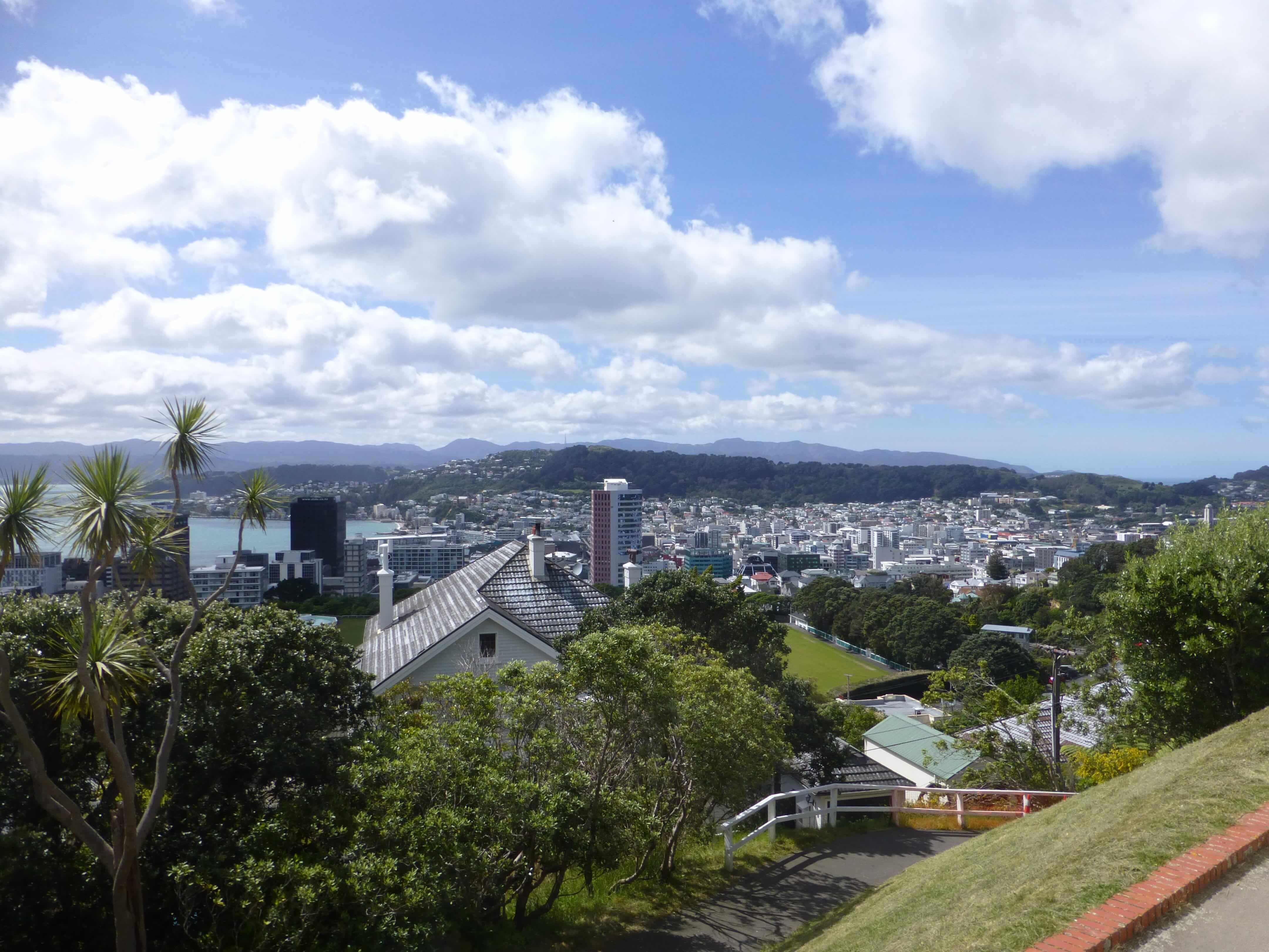 in Wellington an der Cable Car Station, Weit-weg.reisen 14