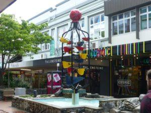 Wasserspiel im Zentrum, Wellington, Neuseeland, Weit-weg.reisen